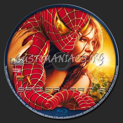 Spider-man 2 blu-ray label