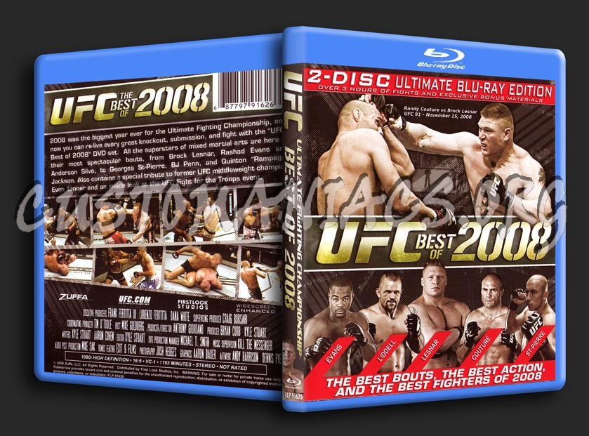 UFC Best of 2008 blu-ray cover