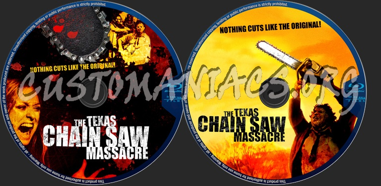 The Texas Chainsaw Massacre blu-ray label