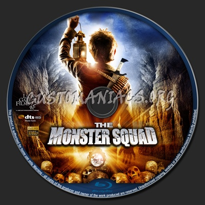 The Monster Squad blu-ray label