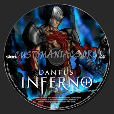 Dante's Inferno dvd label