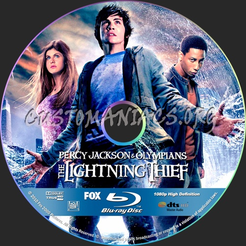 Percy Jackson & the Olympians: The Lightning Thief dvd label