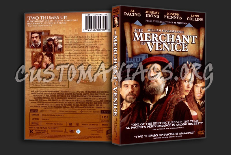 the script of merchant of venice Merchant of venice scene -one (screen openswith a thunderous sound of a heavy water splashing& there is full darkness of the stage for 5 -7 secondsthis is only symbolicthe first film of merchant of venice in french started like this.