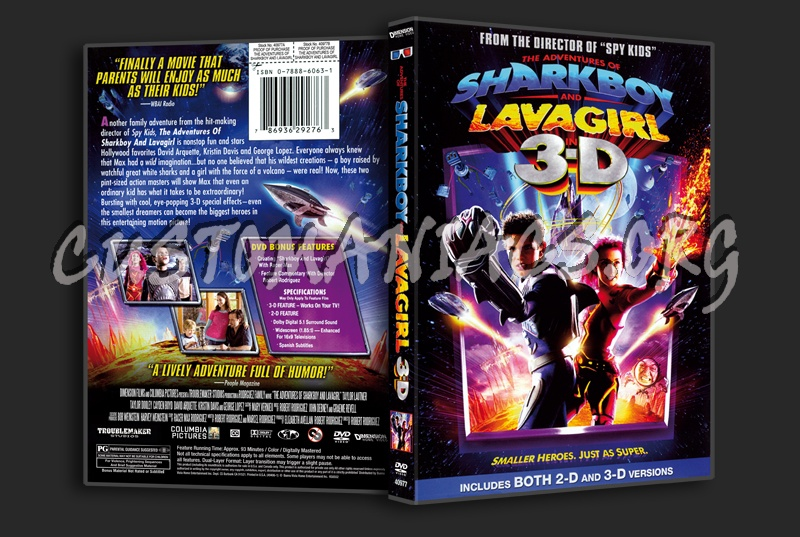 The Adventures of Sharkboy and Lavagirl 3D dvd cover
