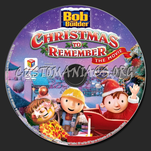 bob the builder christmas to remember dvd label - Bob The Builder A Christmas To Remember