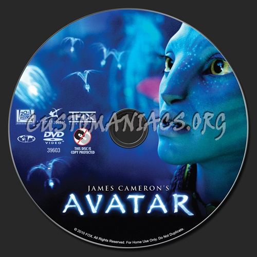 Avatar dvd label