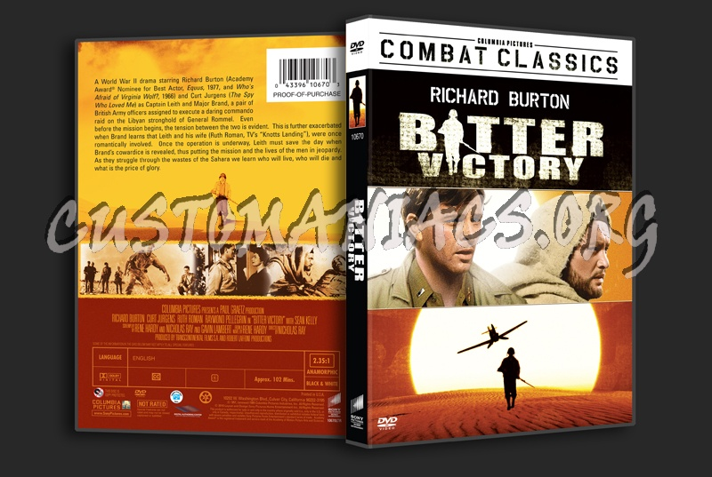 Bitter Victory dvd cover