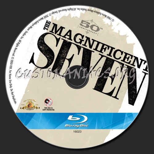 The Magnificent Seven blu-ray label