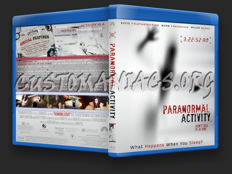 Paranormal Activity blu-ray cover