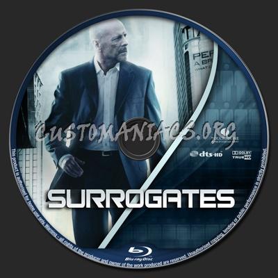 Surrogates blu-ray label