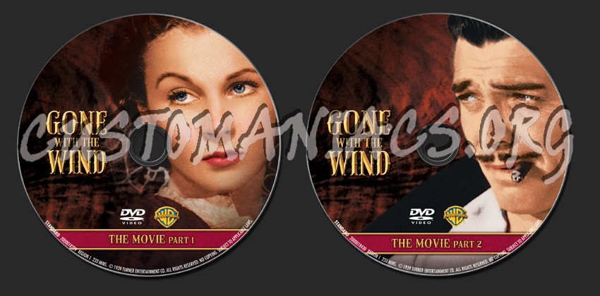 Gone with the Wind dvd label