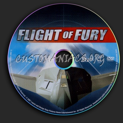 Flight Of Fury dvd label