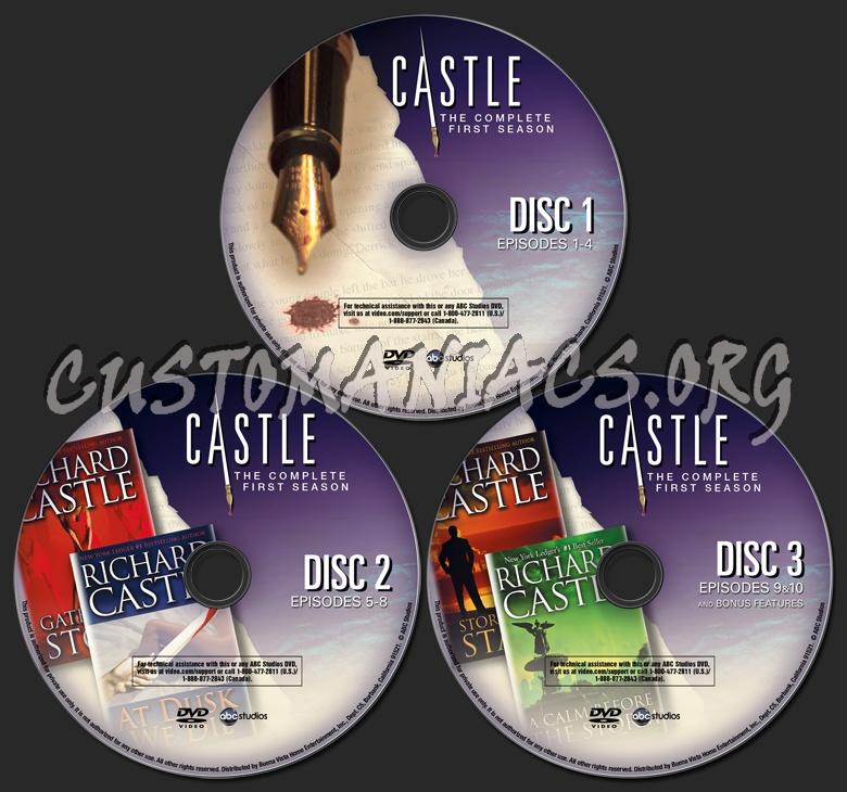 Castle Season 1 Dvd Label