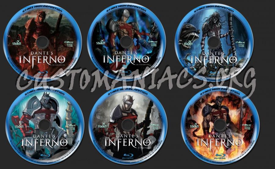 Dante´s Inferno blu-ray label