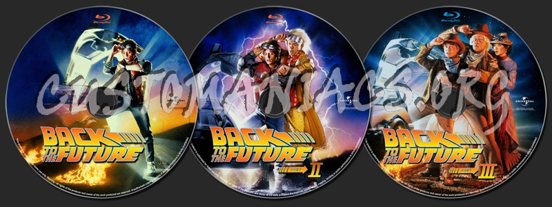 Back to the Future Collection blu-ray label