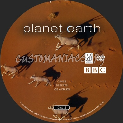 Planet Earth dvd label