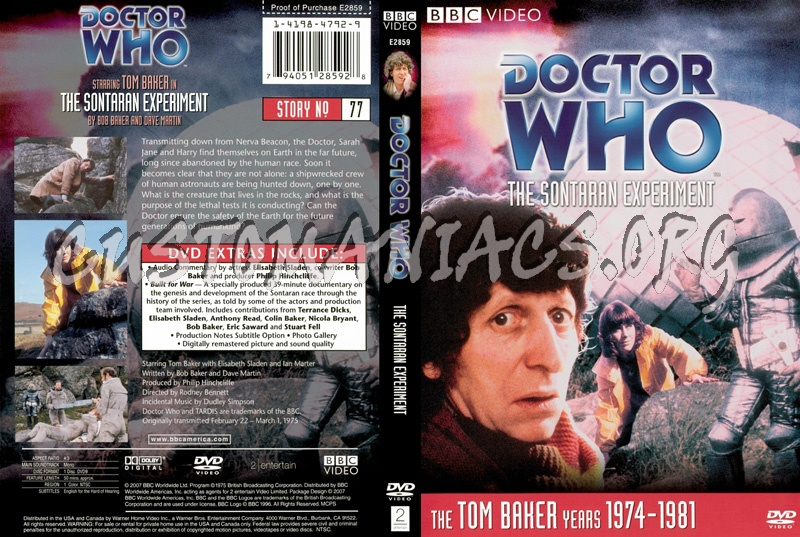 Doctor Who 77 Sontaran Experiment dvd cover