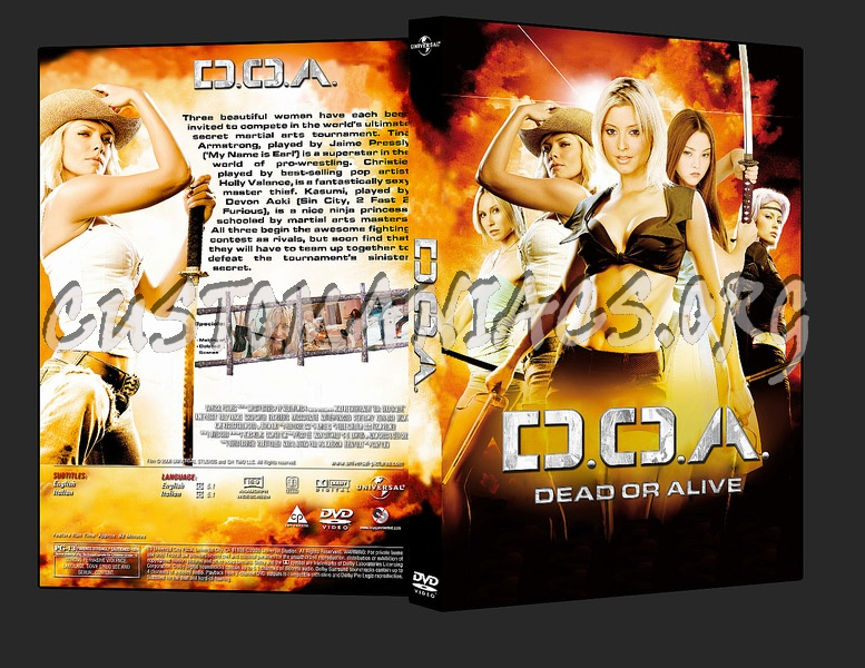 Dead Or Alive Doa Dvd Cover Dvd Covers Labels By