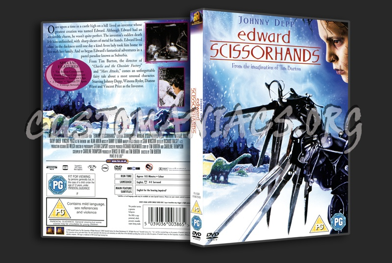 Edward Scissorhands dvd cover