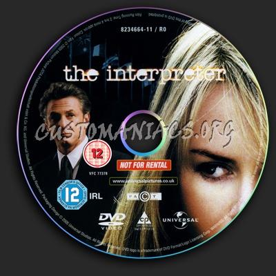 The Interpreter dvd label