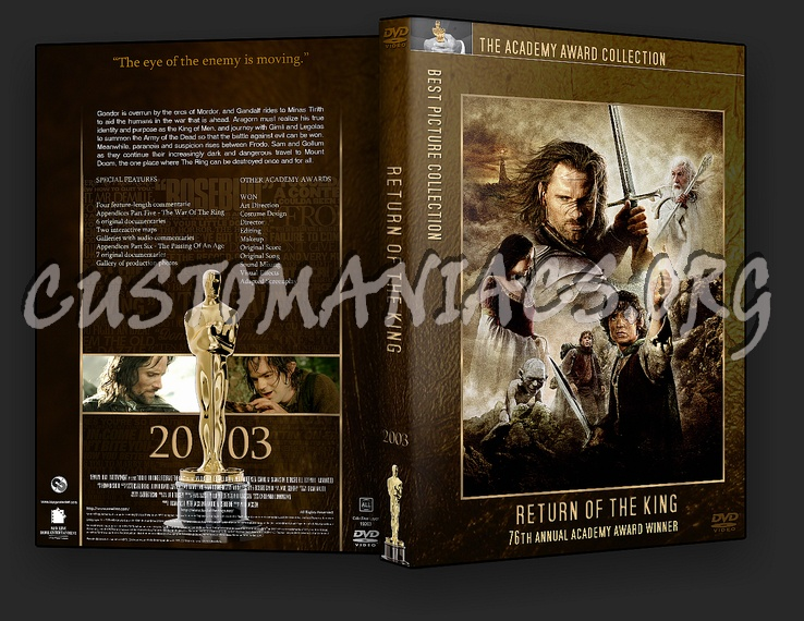 Lord of the Rings: Return of the King - Academy Awards Collection dvd cover