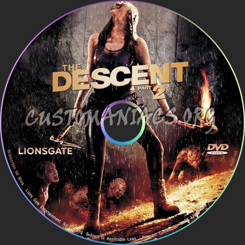 The Descent: Part 2 dvd label