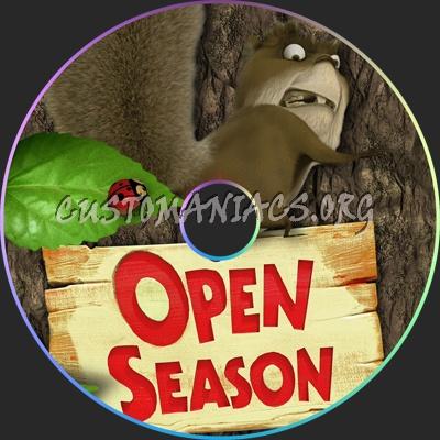 Open Season dvd label