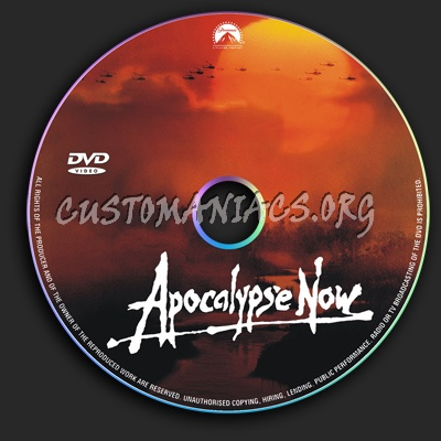 Apocalipse Now dvd label