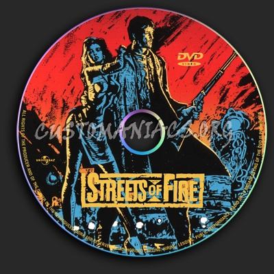 Streets of Fire dvd label