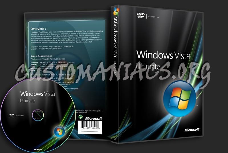 Windows Vista Ultimate dvd cover