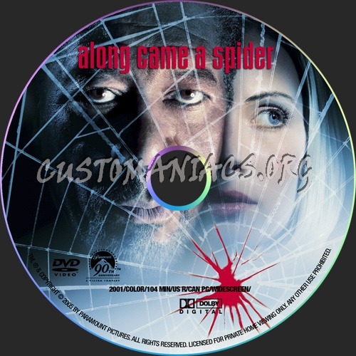 Along Came A Spider dvd label