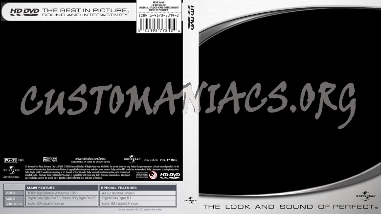 Universal - HDDVD Template dvd label