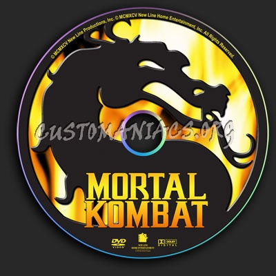 Mortal Kombat dvd label