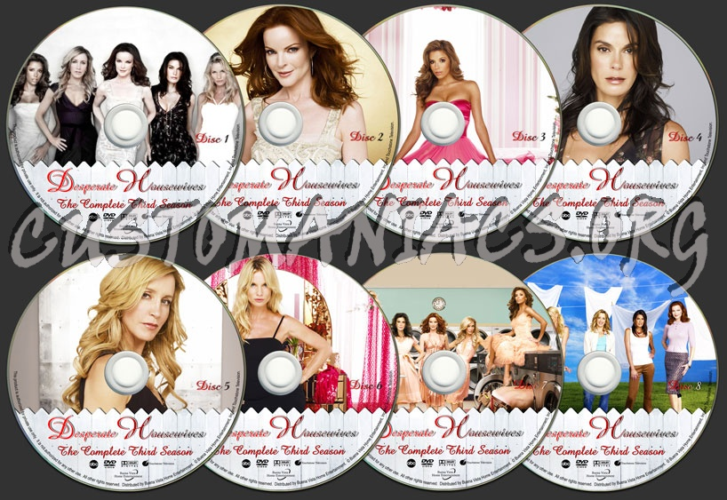 Desperate Housewives - Season 3 dvd label
