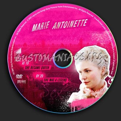 Marie Antoinette dvd label