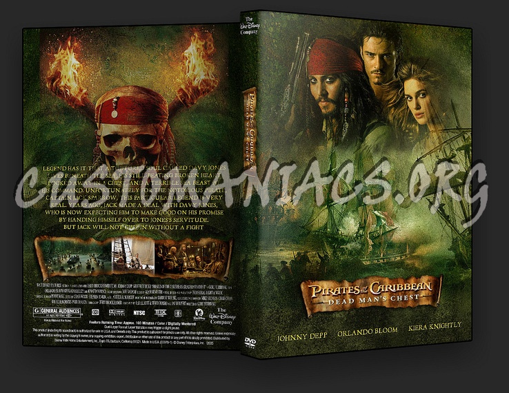 Pirates Of The Caribbean 2 - Dead Man's Chest dvd cover