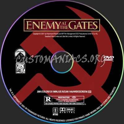 Enemy at the Gates dvd label