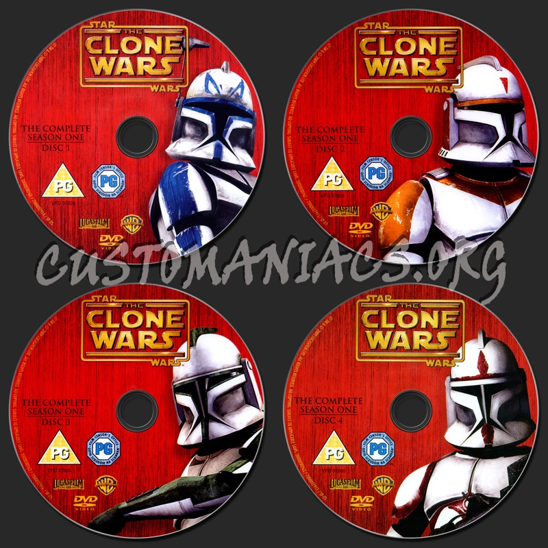 Star Wars: The Clone Wars - Complete Season 1 dvd label