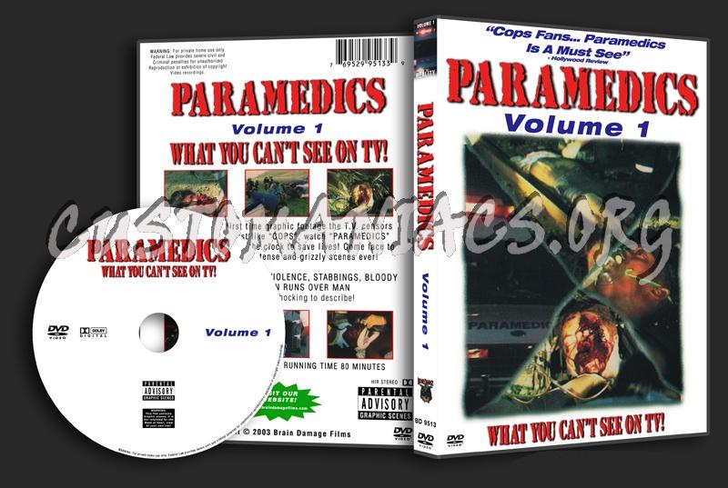 Paramedics Volume 1 - 3 dvd cover