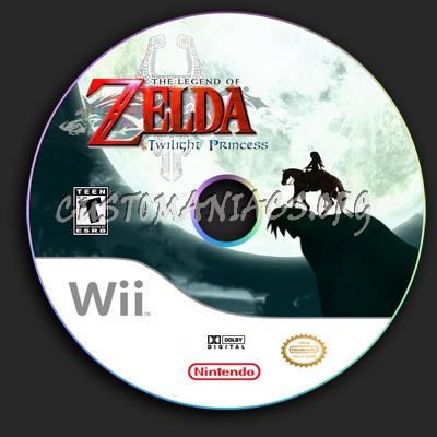 The Legend of Zelda Twilight Princess dvd label
