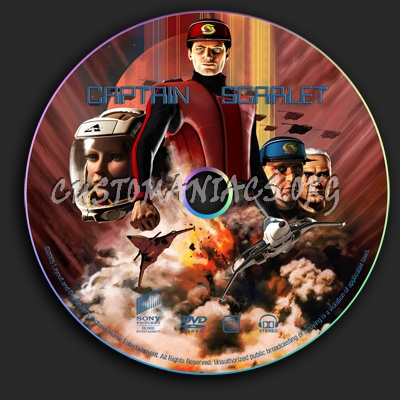 Captain Scarlet dvd label
