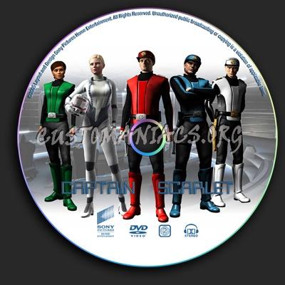 Captain Scarlet dvd label