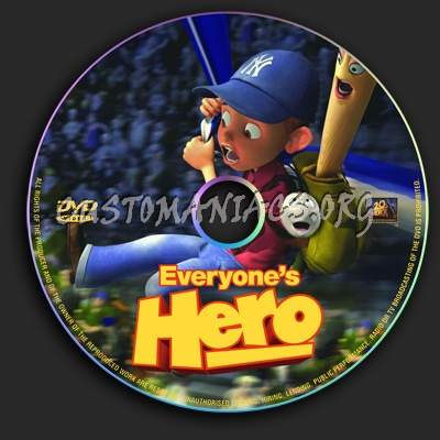 Everyones Hero dvd label