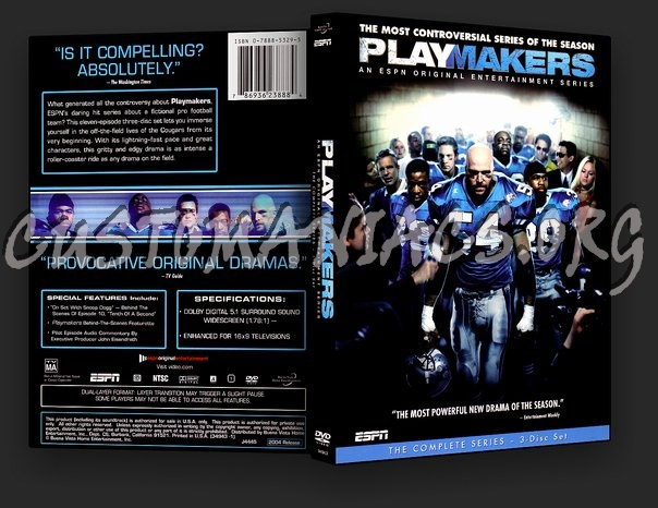 Playmakers The Complete Series dvd cover