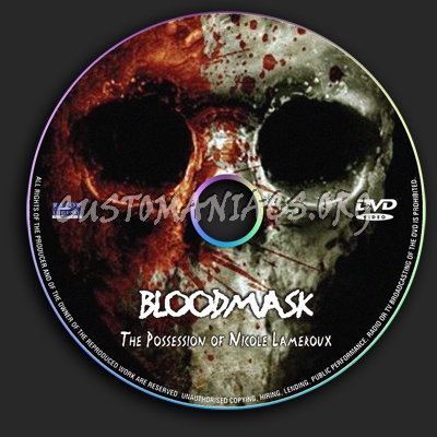Blood Mask The Possession of Nicole Lameroux dvd label