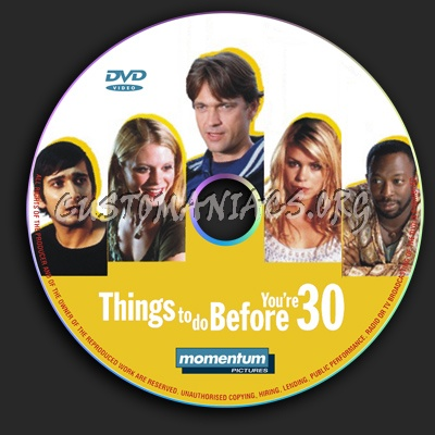 Things to Do Before You're 30 dvd label