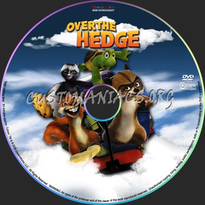 Over The Hedge dvd label