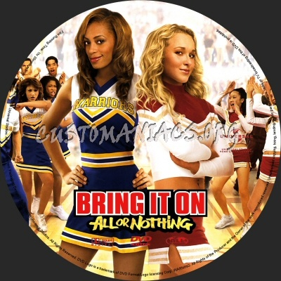 Bring it On - All or Nothing dvd label