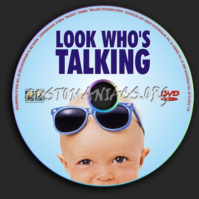 Look Who's Talking dvd label