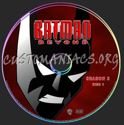 Batman Beyond dvd label